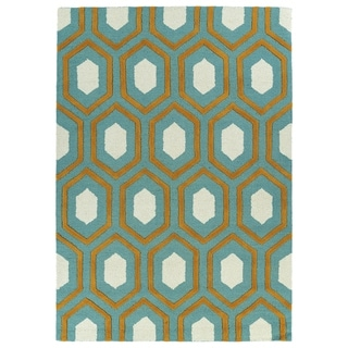 Trends Grey Trellis Hand Tufted Rug (8'0 x 10'0)