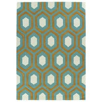 Trends Grey Trellis Hand Tufted Rug - 8' x 10'