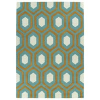 Trends Grey Trellis Hand Tufted Rug - 5' x 7'