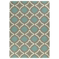 Trends Light Brown Geo Hand Tufted Rug (3'0 x 5'0) - 3' x 5'