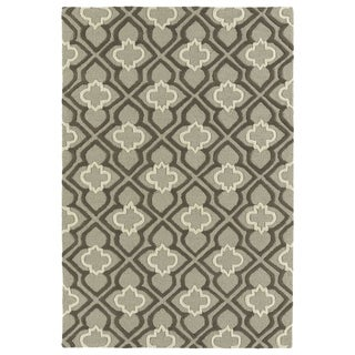 Trends Grey Mosaic Hand Tufted Rug (3' x 5')
