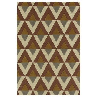 Trends Mid-Century Brick Hand Tufted Rug (3'0 x 5'0)