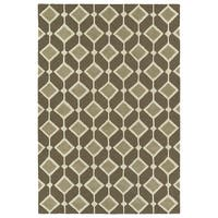 Trends Mid-Century Brown Hand Tufted Rug - 3' x 5'