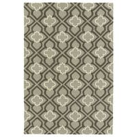Trends Grey Mosaic Hand Tufted Rug - 2' x 3'