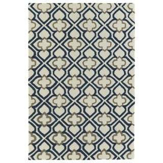 Trends Ivory Mosaic Hand Tufted Rug (2' x 3')