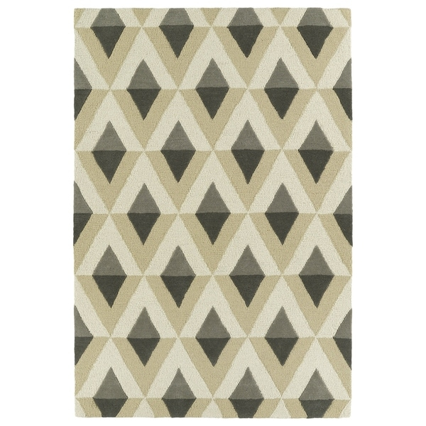 Trends Mid-Century Grey Hand Tufted Rug - 2' x 3'