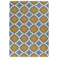 Trends Grey Geo Hand Tufted Rug - 2' x 3'