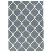 Trends Grey Trellis Hand Tufted Rug - 2' x 3'