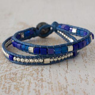 Handmade Beaded Glass 'El Paredon' Bracelet (Guatemala)