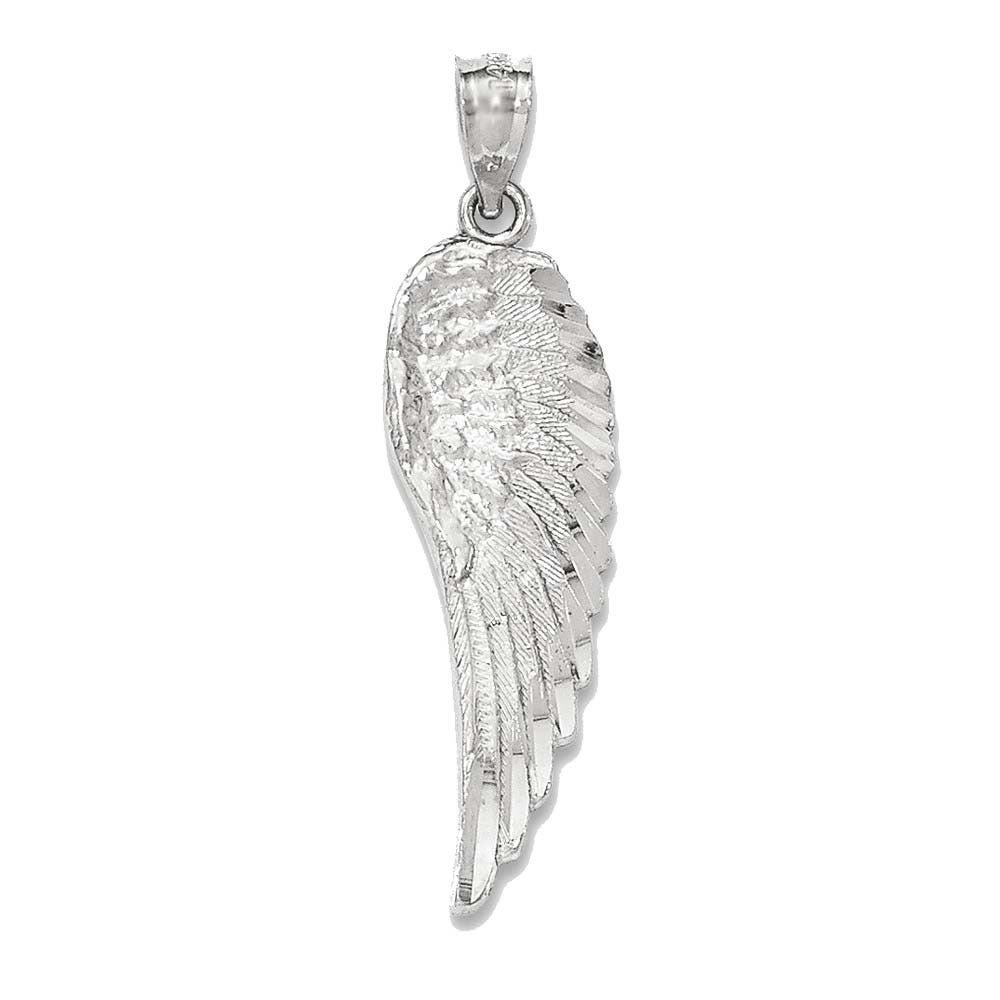 14k Polished Feather Pendant