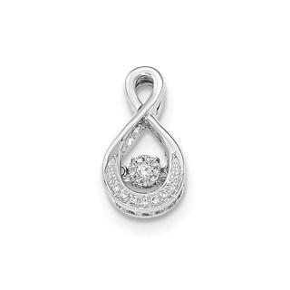 14k White Gold Vibrant Diamond Slide Pendant