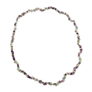 Handcrafted Fluorite 'Nuanced Color' Necklace (Brazil)