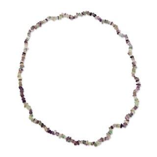 Handmade Fluorite 'Nuanced Color' Necklace (Brazil)