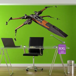 X-Wing Starfighter Full Color Decal, Full color sticker, colored X-Wing Sticker Decal size 22x26