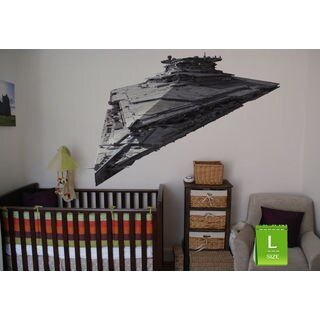 Empire Ship Full Color Decal, Full color sticker, colored Star Wars Sticker Decal size 22x26