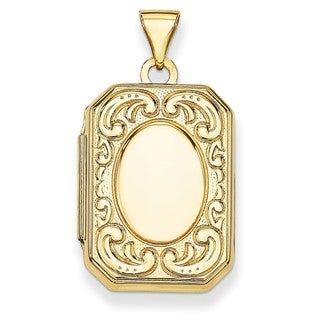 14k Yellow Gold 2-picture Rectangle Locket