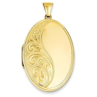 14k Gold Oval Heavy Weight Locket