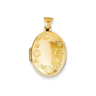 14k Gold Hand-engraved Locket