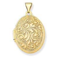14k Yellow Gold 'Love You Always' Reversible Locket