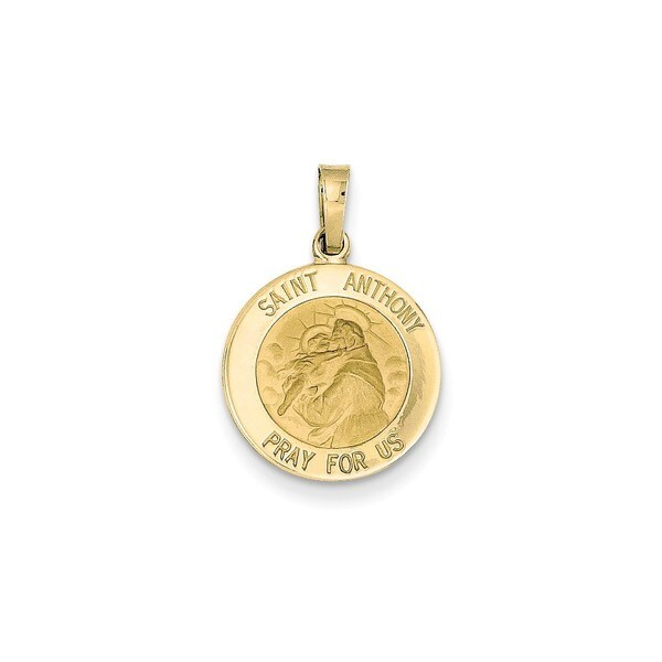 Shop 14k Yellow Gold Saint Anthony Medal Charm Free Shipping Today