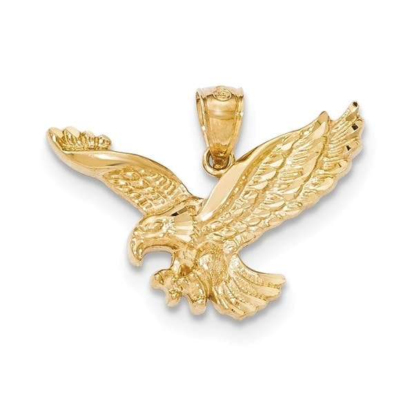 14k yellow gold diamond cut eagle pendant free shipping today 14k yellow gold diamond cut eagle pendant aloadofball Gallery