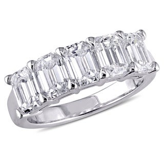Miadora Signature Collection 18k White Gold 2 1/2ct TDW Certified Emerald-Cut Diamond Anniversary Ring (F-G, VVS2-VS1) (IGI)