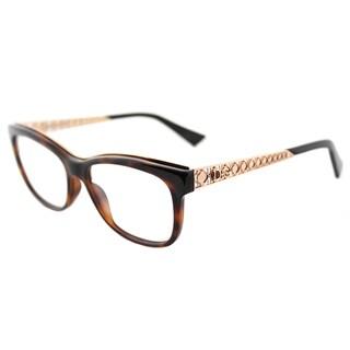Dior Diorama Havana Brown Turtle Rectangular Glasses w/ Goldtone Accents (53 mm)