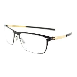 ic! berlin 135 Seekorso Black Matte/Gold Metal Rectangular Glasses (54 mm)