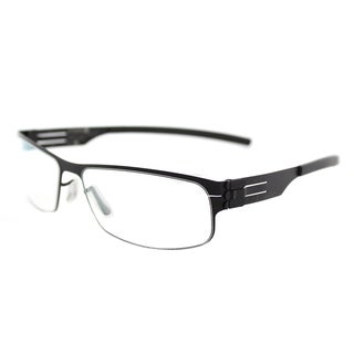 ic! berlin Serge K. Black Metal 53mm Rectangle Eyeglasses
