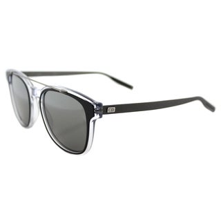 Dior Black Tie 211S LCP SF Black Crystal Ruthenium Plastic Square Sunglasses with Black Mirror Lens