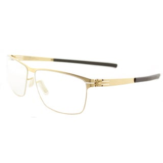 IC! Berlin Sven H. Matte Gold Metal Rectangle Eyeglasses 57mm