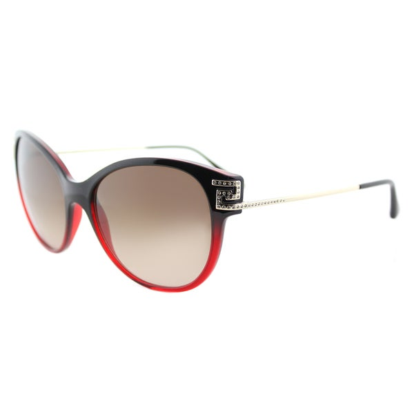 47413a21ff34 Versace VE 4316 507513 Greca Rock Icons Red Gradient Plastic Cat-Eye  Sunglasses with Brown