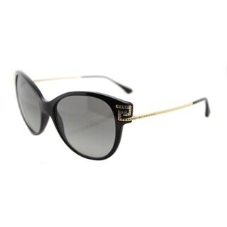 Versace VE 4316 GB1/11 Greca Rock Icons Black Plastic Cat-Eye Sunglasses with Grey Gradient Lens
