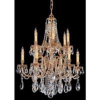 Crystorama Novella Collection 12-light Olde Brass/Swarovski Spectra Crystal Chandelier