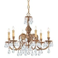 Crystorama Novella Collection 6-light Olde Brass/Swarovski Elements Spectra Crystal Chandelier