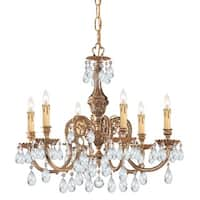 Crystorama Novella Collection 6-light Olde Brass/Crystal Chandelier - Brass