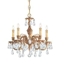 Crystorama Novella Collection 5-light Olde Brass/Swarovski Elements Spectra Crystal Mini Chandelier