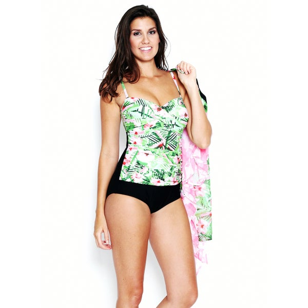 7a7058af89138 Swim by Chuck Handy Women's Hibiscus Palm 1-piece Swimsuit including