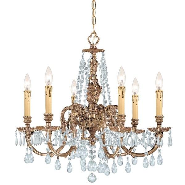 Crystorama Novella Collection 6-light Olde Brass/Swarovski Elements Strass Crystal Chandelier