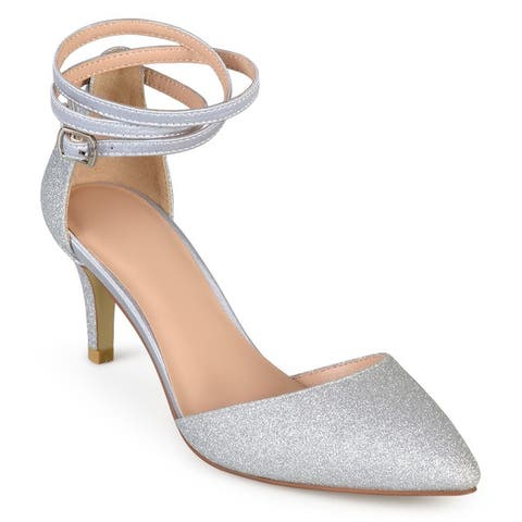 f0df2ff7ed Journee Collection Women's 'Luela' Glitter Pointed Toe D'orsay Pumps