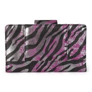 Kenneth Cole Reaction Women's Zebra Print Utility Clutch Wallet