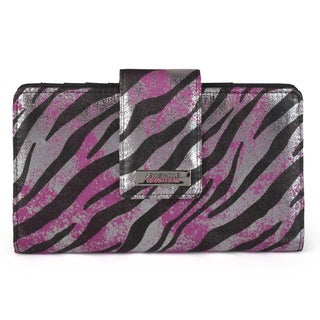 Kenneth Cole Reaction Women's Zebra Print Utility Clutch Wallet