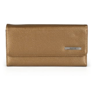 Kenneth Cole Reaction Women's Metallic Elongated Clutch Wallet