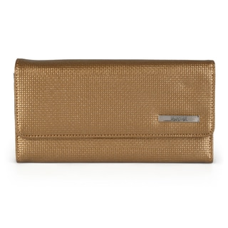 Kenneth Cole Reaction Women's Metallic Elongated Clutch Wallet (Option: Gold)