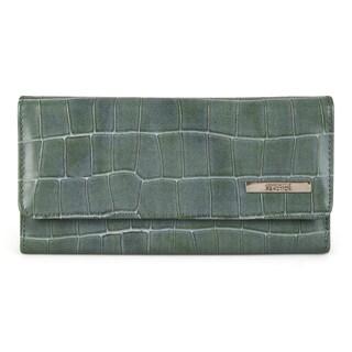 Kenneth Cole Reaction Women's Croc Print Elongated Clutch Wallet