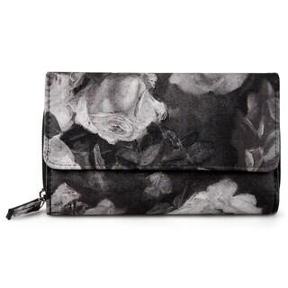 Mundi Women's Faux Leather Big Fat Clutch Wallet