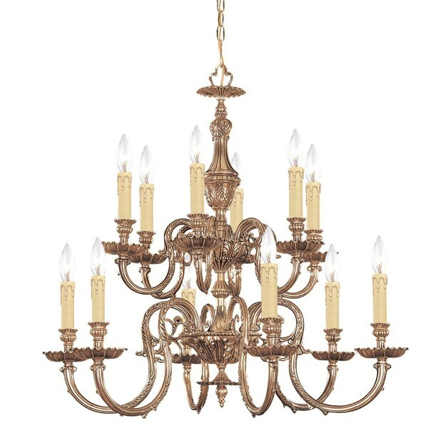 Crystorama Novella Collection 12-light Olde Brass Chandelier
