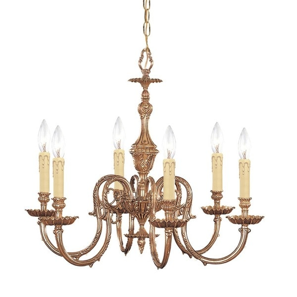 Crystorama Novella Collection 6-light Olde Brass Chandelier