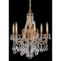 Crystorama Novella Collection 6-light Olde Brass/Swarovski Elements Strass Crystal Chandelier