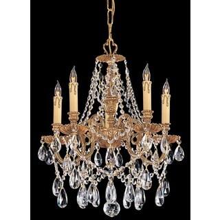 Crystorama Novella Collection 5-light Olde Brass/Swarovski Strass Crystal Mini Chandelier